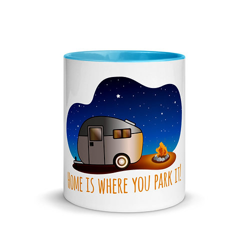 RVD Home is Where You Park it Mug with Color Inside