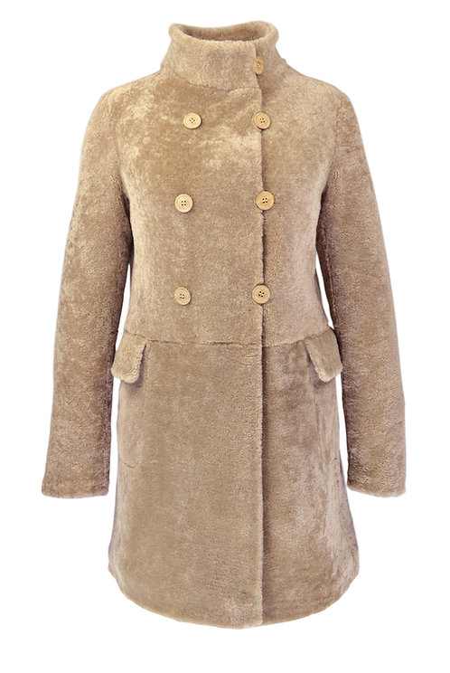 Palton blana cu doua buzunare