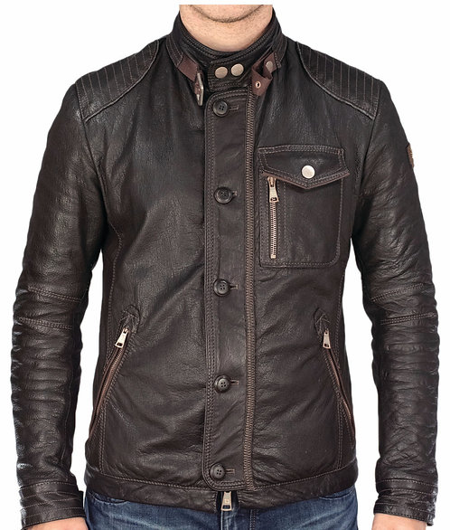 Todd leather jacket brown
