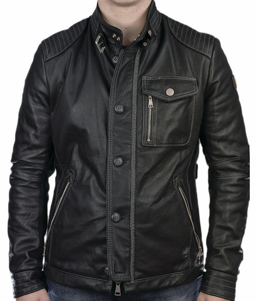 Todd leather jacket black