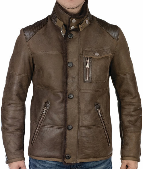 Oliver leather jacket brown