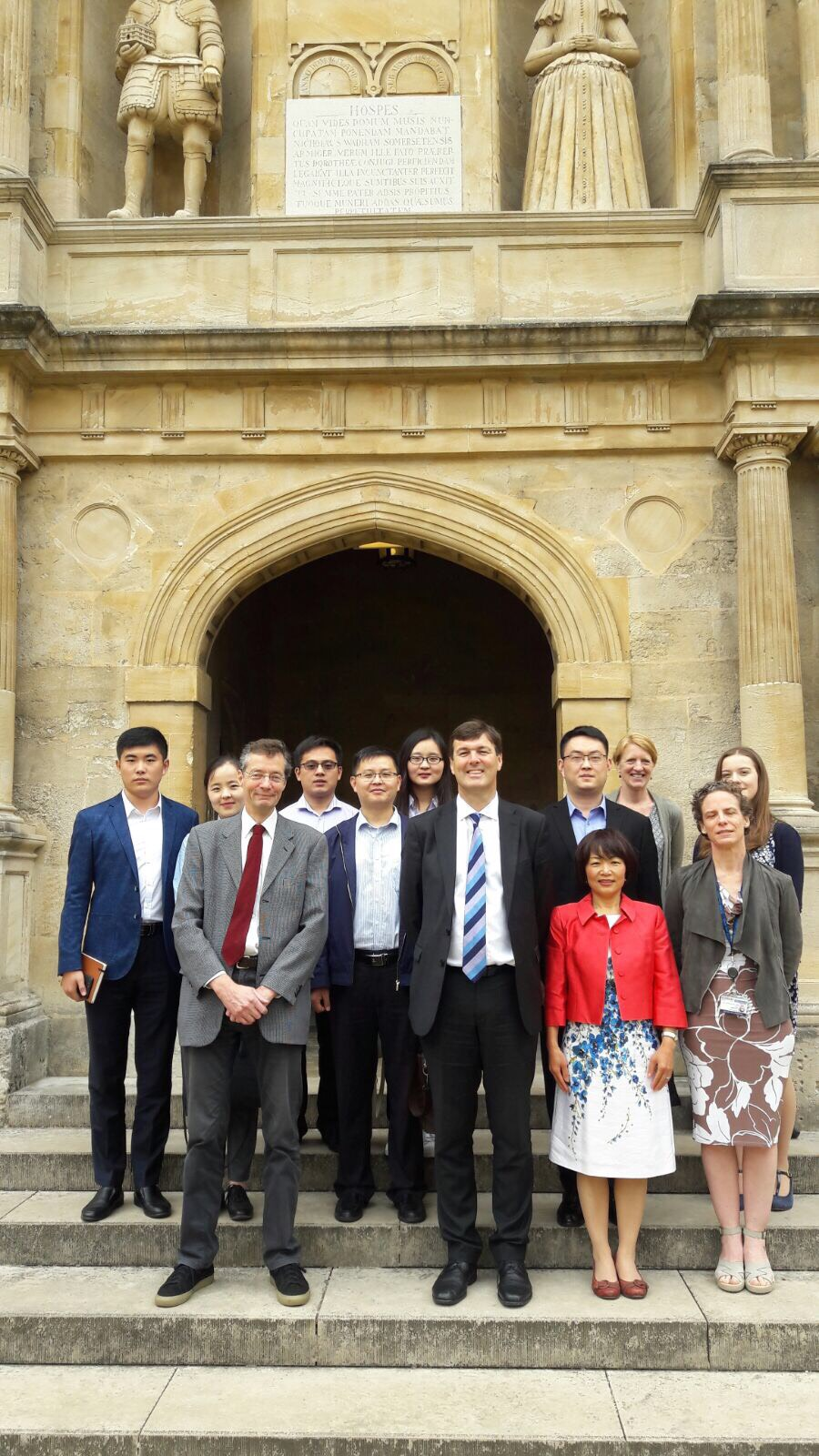 Chinese Visiting Wadham College
