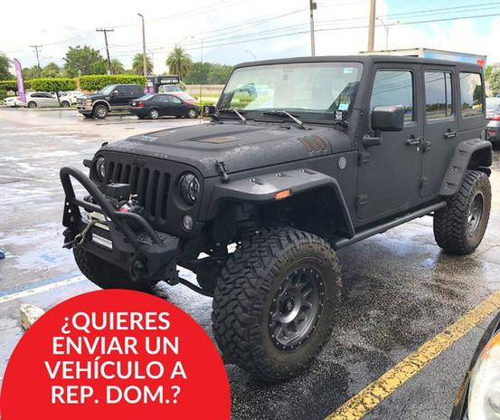 Enviar un vehiculo a Republica Dominicana