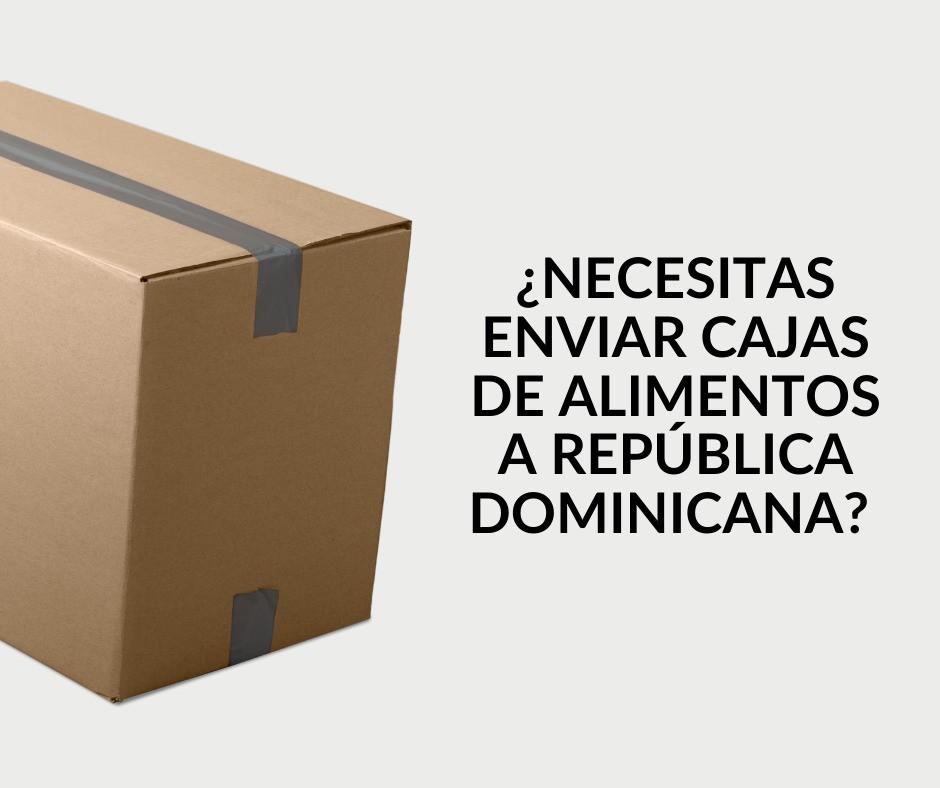 Envio de cajas de alimentos a Republica