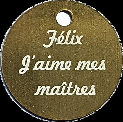 Médaille Ronde Personnalisable