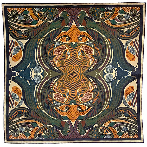 Quetzal - Navy & Cream Stripe