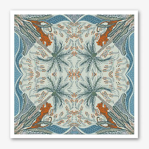 Tiger & Palm Fine Art Giclée Print