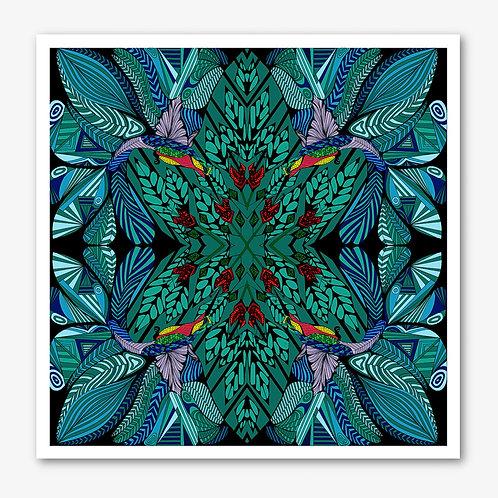 Hummingbird Blue Fine Art Giclée Print