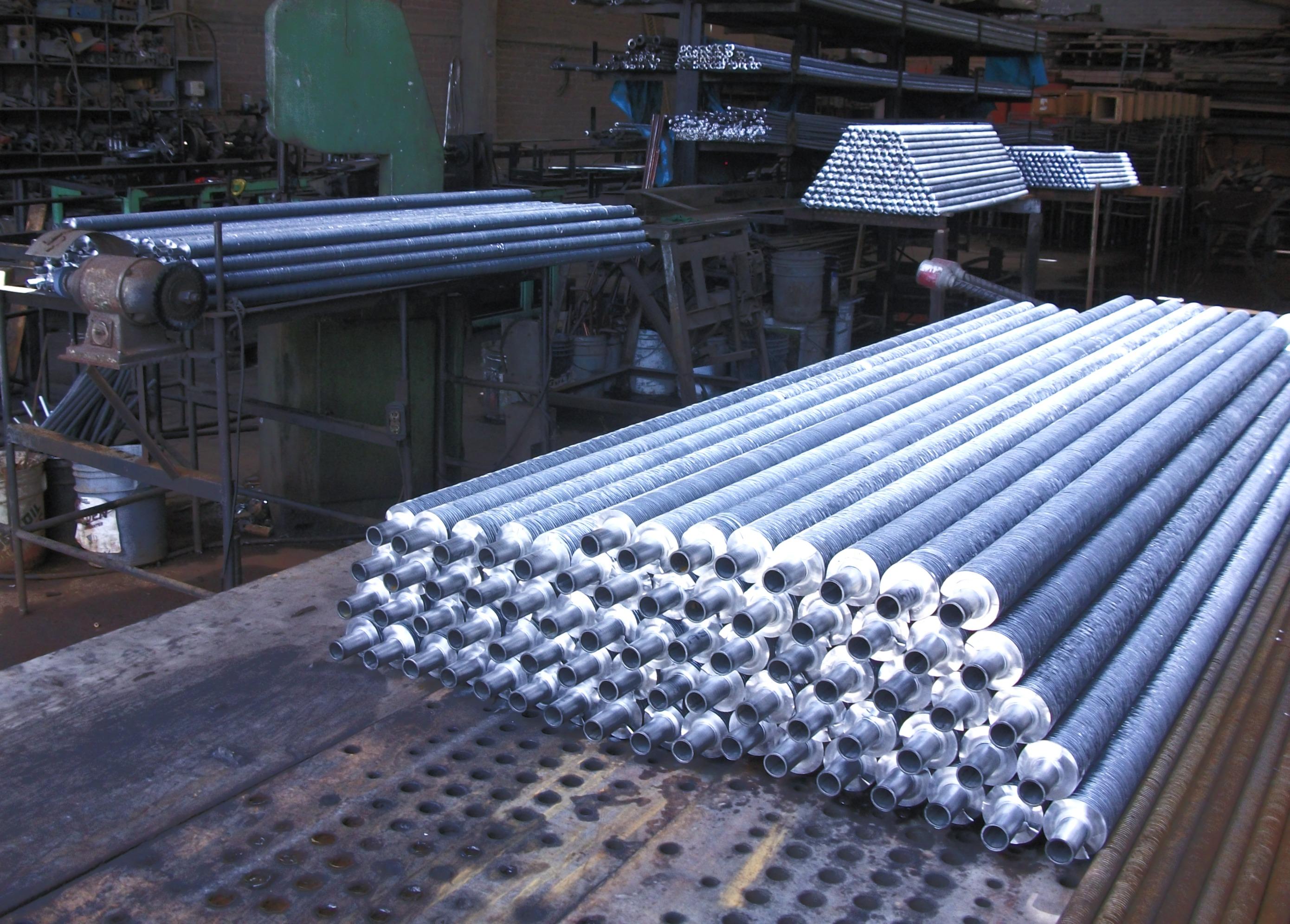 tubos aletados
