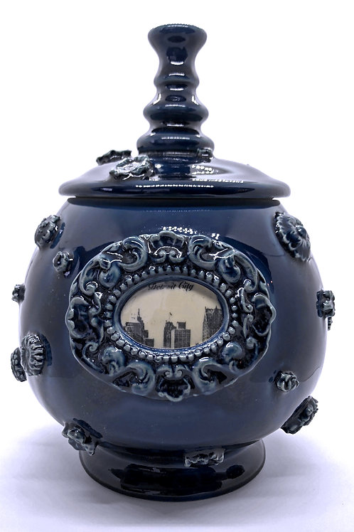 Detroit City Mod Victorian Cookie Jar
