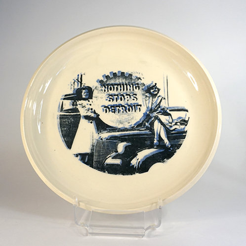 Nothing Stops Detroit - Pasta Platter in blue and black