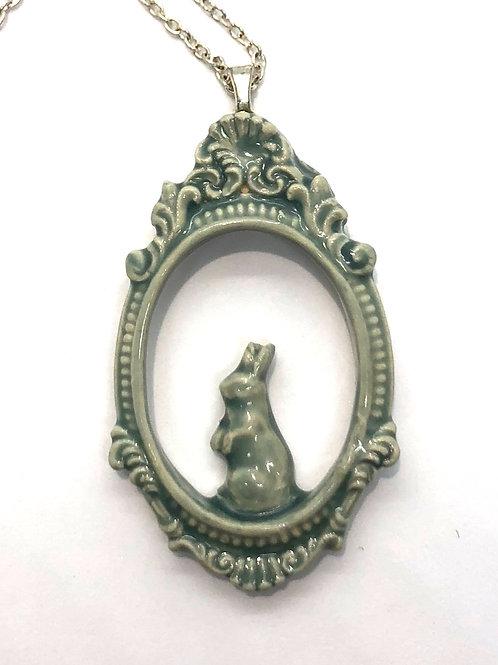 Curious Hare Peep-Through Pendant