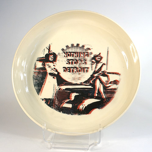 Nothing Stops Detroit - Pasta Platter in red and black