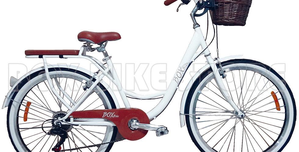 Bicicleta Vintage Box Bike Blanco - 2019