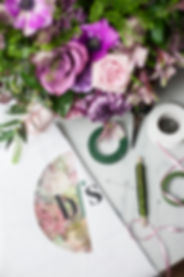 Bouquet of Flowers & floristry tools