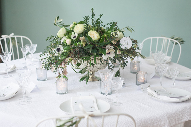 Elegant Green & White Foliage Wedding Day 2 Wedding Flower Workshop