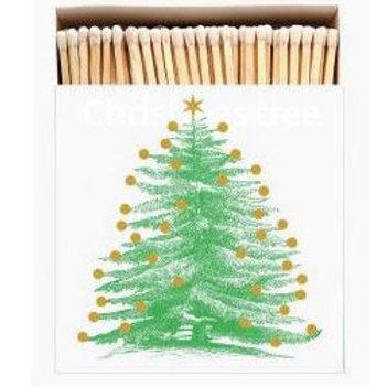 Christmas Tree Square Match Box