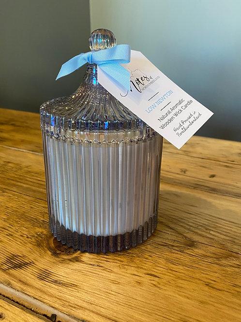 Vintage Ribbed Candle Jar - Large
