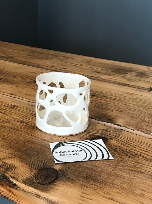 Spin Drift Round Votive Holder