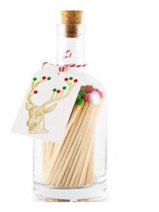Rudolph Match Bottle