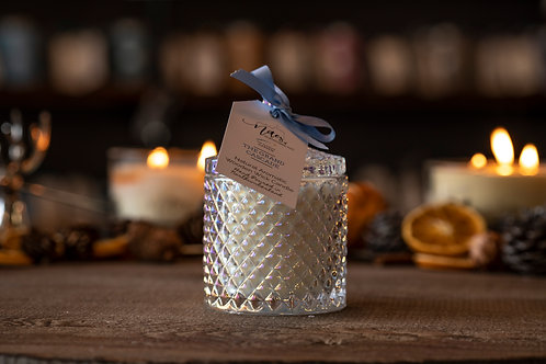 Crystal Geo Wooden Wick Candle