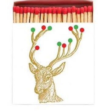 Rudolph Square Match Box