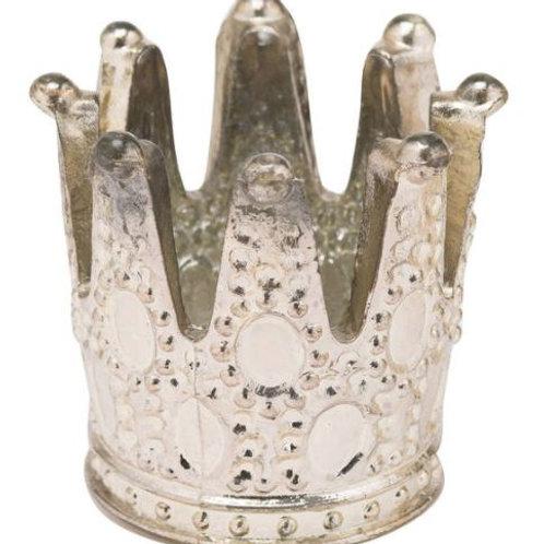 Silver Crown Tealight Holder