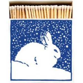 Snowy Rabbit Square Match Box
