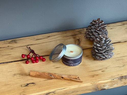 Mini Candle Tin - Christmas in Northumberland
