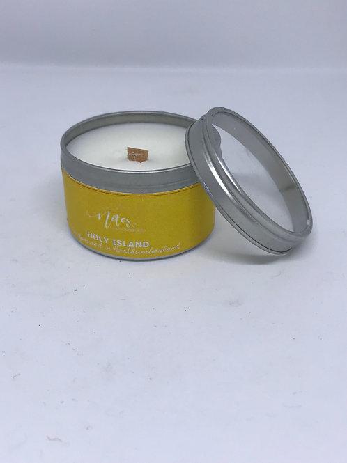 Mini Candle Tin - Holy Island