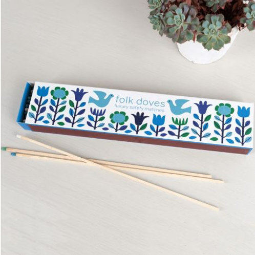 Folk Dove Box of Extra Long Safety Matches