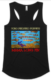 Mama Long Fin - Womens Yes Racerback Sin
