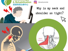 Why do I have neck and shoulder tightness after prolonged desk work?