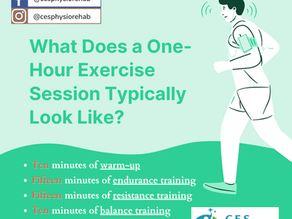 What Does a One-Hour Exercise Session Typically Look Like?