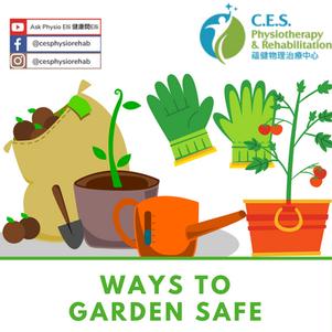 Ways to Garden Safe