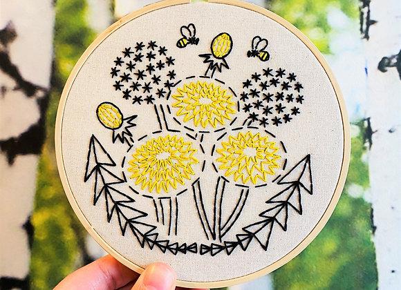 Hook, Line, & Tinker - Modern Embroidery Kit - Bee Kind