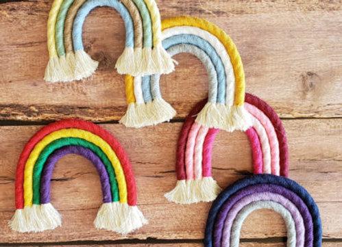 Aster & Vine - Macrame Rainbow Kit