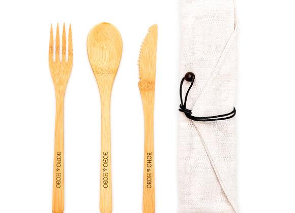 Boho & Hobo - Bamboo Cutlery Set