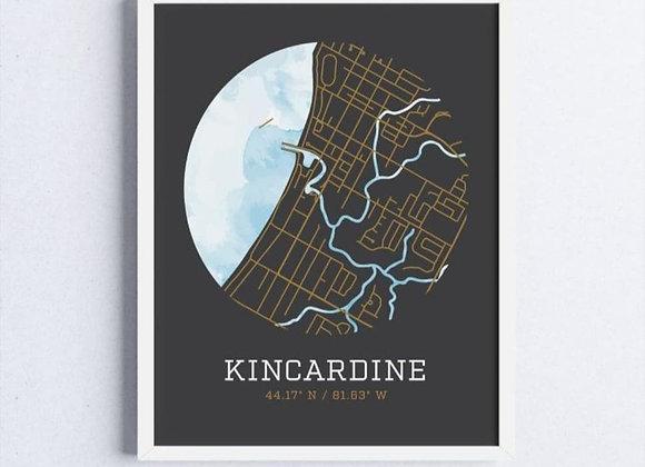 "Robin & Canary - Kincardine Map Prints - 11"" x 14"""