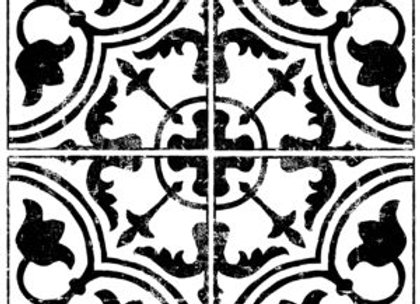 Cubano Field Tile Decor Stamp™ -Iron Orchid Designs