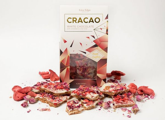 Cracao Live Edge Chocolate - White Chocolate