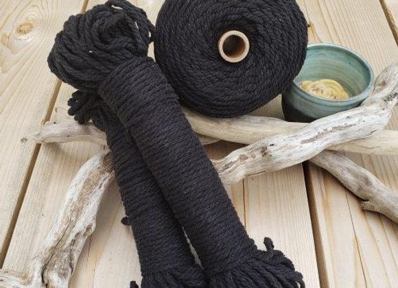 Aster & Vine - Black Macrame Rope - 4mm