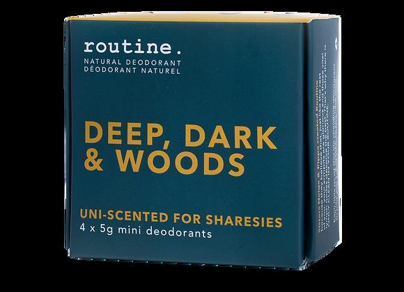 Routine - Deep, Dark & Woods Mini Kits (4 x 5g)
