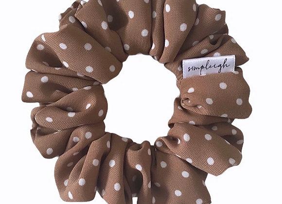 Simpleigh Style - Terracotta Polka Dot Scrunchie