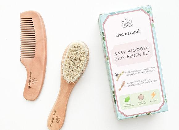 Sisu Naturals - Bamboo Baby Brush & Comb Set