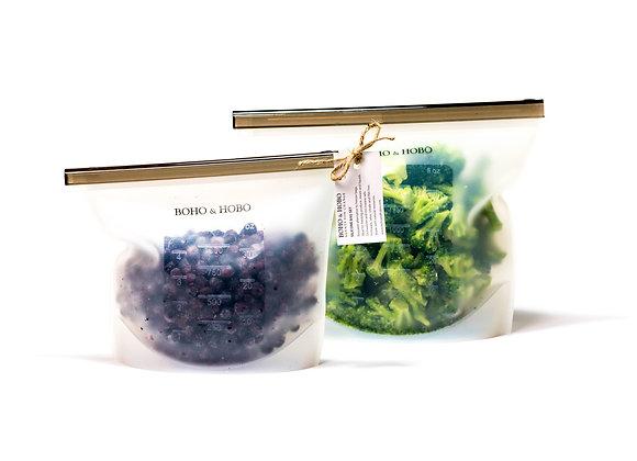 Boho & Hobo - Silicone Freezer Bags (Set of 2)