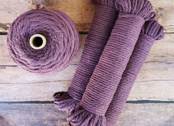 Aster & Vine - Plum Purple Macrame Rope - 5mm