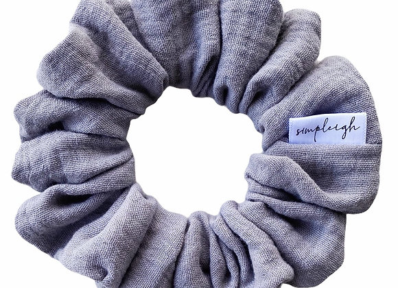 Simpleigh Style -Pewter Organic Gauze Scrunchie