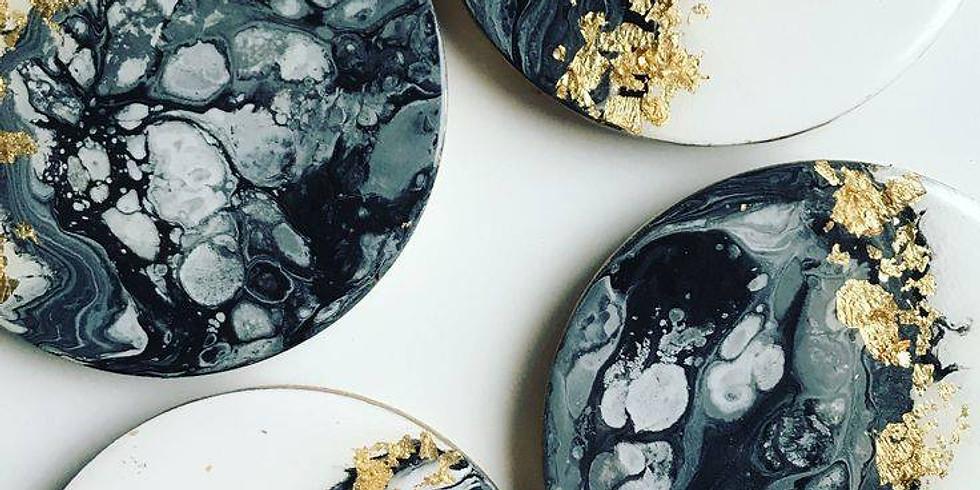 Annie Sloan Chalk Paint™ - Messy Pour Coasters