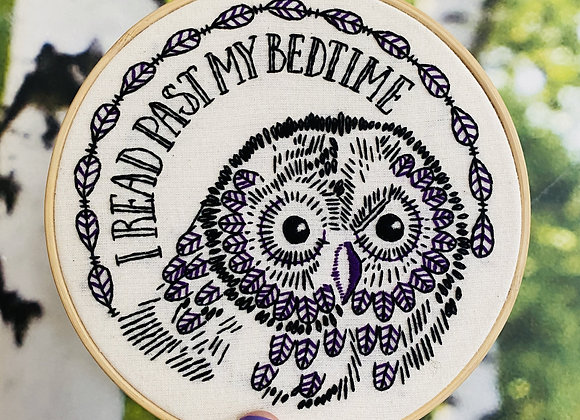 Hook, Line, & Tinker - Modern Embroidery Kit - I read past my bedtime